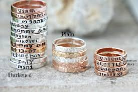 personalized gold rings sted stacking rings personalized gold silver