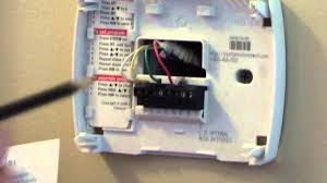 how to wire a sensi thermostat wifi thermostat youtube