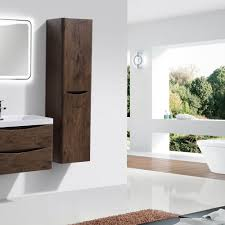 eviva smile 16 inch rosewood wall mount side cabinet u2013 bathroom