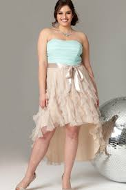 Light Blue High Low Dress Strapless Plus Size Short Prom Dress With Two Tone High Low Tulle