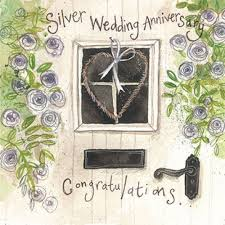 25th wedding anniversary card u0027silver wedding anniversary