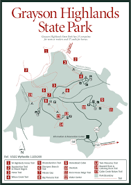 virginia state parks map sherpa guides virginia mountains grayson highlands state park