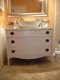 unfinished bathroom vanities turn old dressers into cabinet