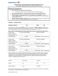 direct deposit card bank of america direct deposit form fill online printable