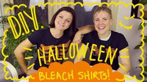 diy halloween bleach shirts ft joselyn hughes youtube