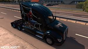 2014 kw t680 spiderman skin for kenworth t680 mod for american truck simulator ats