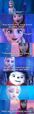 Elsa Memes - elsa finally meets jack frost by scratstitch on deviantart