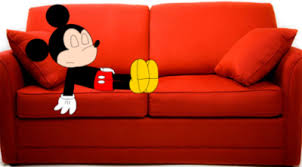 Mickey Mouse Sofa Bed by Mickey Sleeping On Couch By Marcospower1996 On Deviantart
