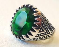 men ring mens emerald rings etsy