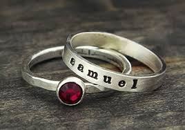 customized rings with names personalized jewelry sted jewelry stacking rings