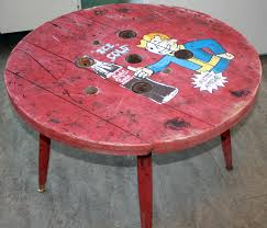 man cave coffee table fallout spool man cave coffee table by flemw on deviantart