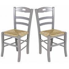 chaises de cuisine lot de 2 chaises de cuisine en gris perle