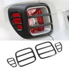 custom jeep tail light covers for jeep renegade 2015 2016 2017 black iron car rear tail light l