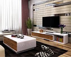 OSPI White Gloss Extendable Living Room Furniture SetsTV Stand - Living room furniture sets uk