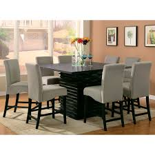 bedroom fascinating modern counter height dining room sets table