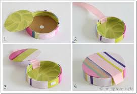 empty ribbon spools gift box idea recycle a ribbon spool in my own style