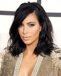medium length wavy hairstyle hairstyles natural kim kardashian hairstyle wavy medium length