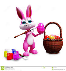 easter bunny coloring egg royalty free stock photography image