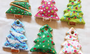 ornaments dough ornaments diy painted salt