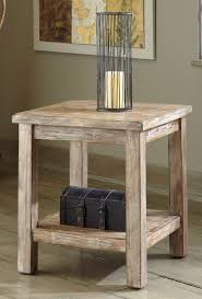 living room rustic furniture design with round end table with