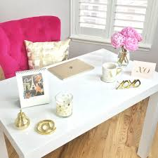 white and gold office desk everyone is telling me to pin my office here it is white desk