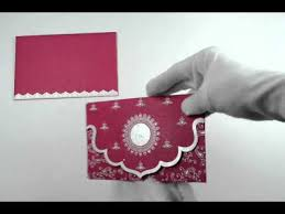 Invitation Cards Handmade - k 63 pink color handmade paper card with rhinestones birthday