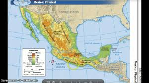 Map Of Mexico With States by Mexico U0027s Physical Features Youtube