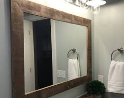 Trim For Mirrors In Bathroom Rustic Vanity Mirrors For Bathroom Mirror Etsy Voicesofimani