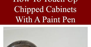 touch up kitchen cabinets how to touch up chipped cabinets with a paint pen exquisitely
