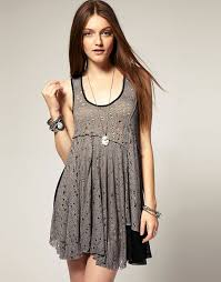 free people free people web lace double layer dress