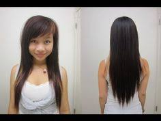shoulder length hair with layers at bottom layered v cut hair cut few layers shortest at shoulders thin