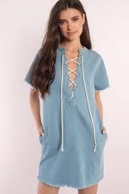 denim dresses denim shift dress denim mini dress tobi us