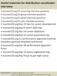 Coordinator Resume Sample by Top 8 Distribution Coordinator Resume Samples