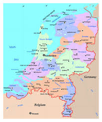 Holland Map Detailed Political And Administrative Map Of Netherlands Holland