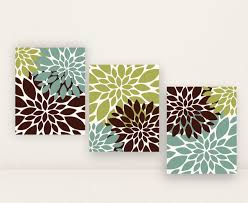 Bedroom Wall Art Sets Green Aqua Brown Home Decor Bathroom Wall Art Set Or Bedroom