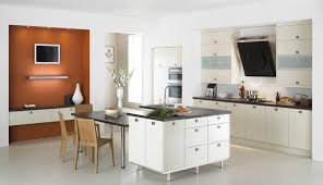 wooden l shaped kitchen design ideas with granite countertop for