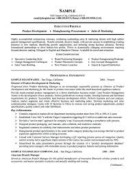 sample marketing executive resume marketing executive resume
