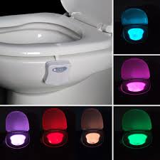toilet light 8 colors led toilet light motion sensor activated bathroom night