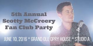 scotty mccreery fan club announcing the 5th annual scotty mccreery fan club party
