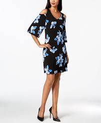 cold shoulder dress connected floral print cold shoulder dress regular sizes