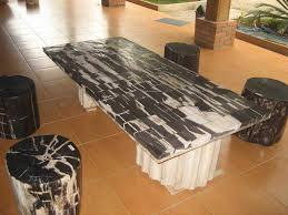 petrified wood table table with beautiful look home design by john
