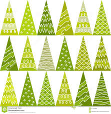 spruce trees green new year pattern triangles geometric