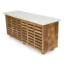 Contemporary Rustic Wood Furniture Modern Rustic White Carrara Marble Large Wood Kitchen Sideboard
