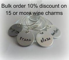 personalized charms bulk hostess gift christmas wine charms sted set of 5
