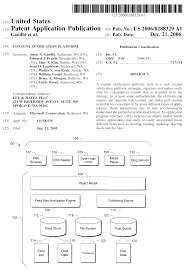 in depth analysis of microsoft content syndication platform patent