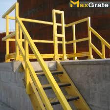 Plastic Handrail Fiberglass Handrail Maxgrate