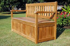 Wood Bench With Storage Outside Storage Bench Treenovation