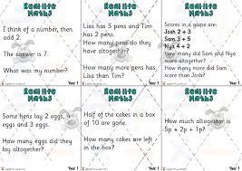 pet yr 1 maths word problem cards premium printable classroom