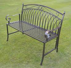 Aluminium Garden Chairs Uk Olive Grove Versailles Folding Metal Garden Bench In Antique