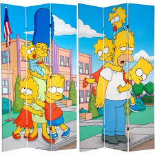 Room Divider For Kids by 7 U0027 Tall Double Sided Simpsons Kids Canvas Room Divider Walmart Com